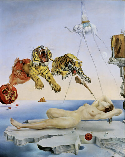 Salvador Dalí, 'Dream caused by the Flight of a Bee around a Pomegranate a Second before Waking up', 1944
