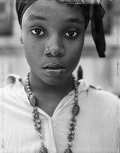Dawoud Bey, 'A Girl with a Knife Nosepin, Brooklyn, NY', 1990