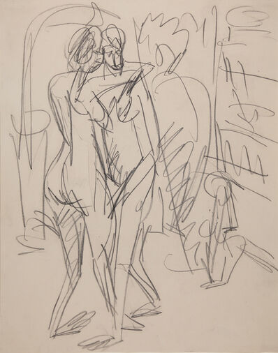 Ernst Ludwig Kirchner, 'Zwei tanzende Akte im Atelier (Two Dancing Nudes in the Studio)', 1915
