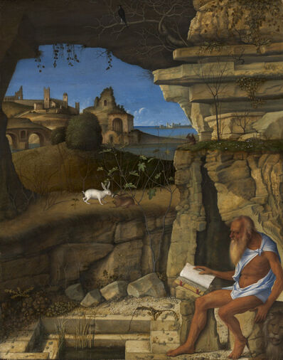 Giovanni Bellini, 'Saint Jerome Reading', 1505