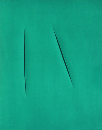 Lucio Fontana, 'Concetto Spaziale (from XXe Siecle)', 1959