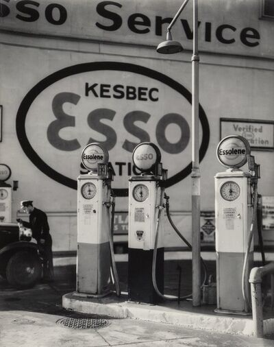 Berenice Abbott, 'Esso Gasoline Station, Tenth Avenue, New York', 1935