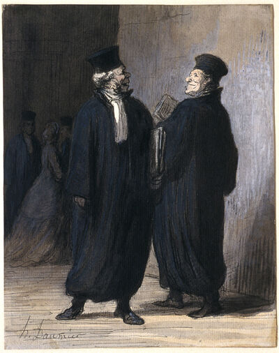 Honoré Daumier, 'Two Colleagues', ca. 1855