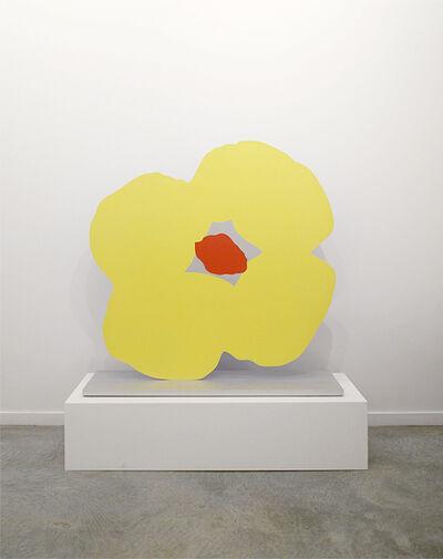 Donald Sultan, 'Blue Poppy Yellow Poppy Nov 4 2013', 2013