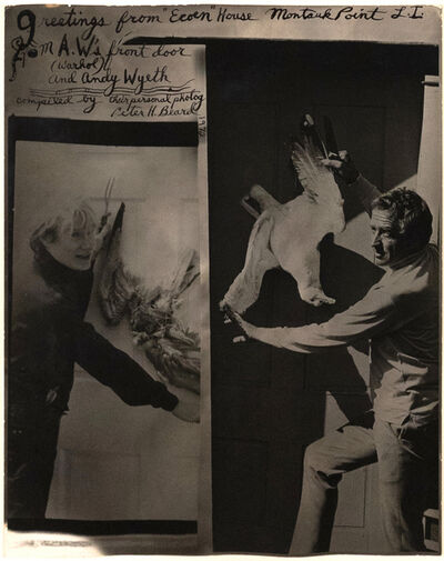 Peter Beard, 'Andy Warhol & Andy Wyeth', 1972