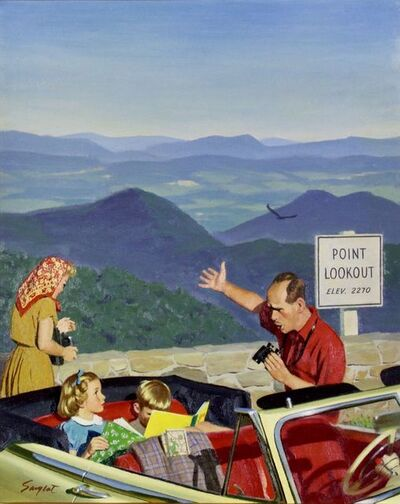 Richard Sargent, 'Lookout Point, Saturday Evening Post Cover', 1953