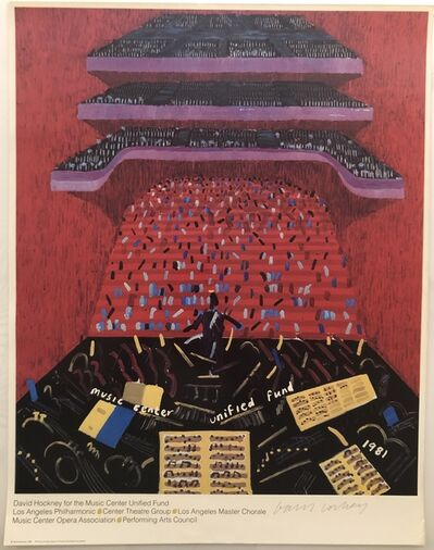 David Hockney, 'Hand Signed Los Angeles Music Center Unified Fund', 1981