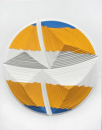 Elizabeth Gregory-Gruen, ''Blue & Yellow Stripe-Out'', 2017