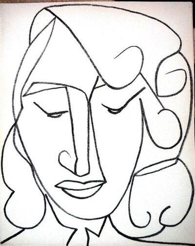 Françoise Gilot, 'Portrait Head of a Woman', 1950-1959
