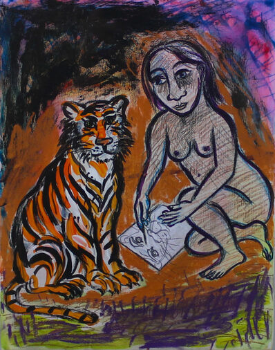 Eileen Cooper, 'Drawing Tiger Portrait', 2003