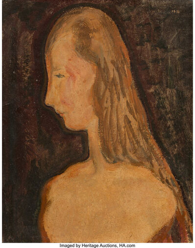 Alfred H. Maurer, 'Woman in profile'