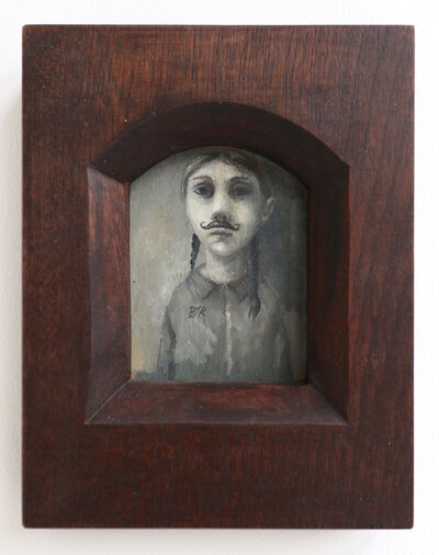 Bobbie Russon, 'Girl with Moustache (Miniature)', 2015