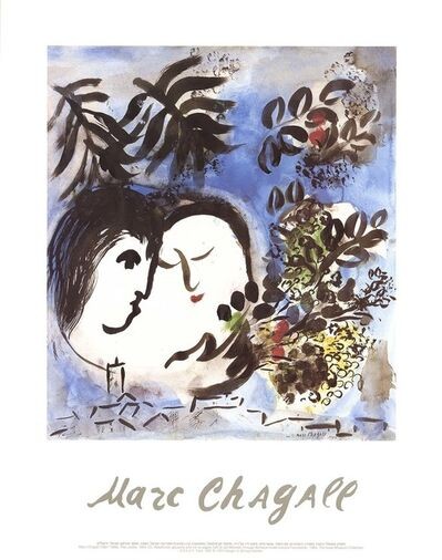 Marc Chagall, 'The Lovers', 1991