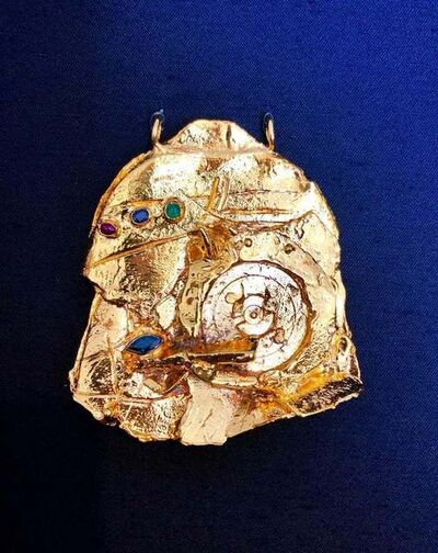 Igael Tumarkin, 'Gilt Bronze Sculpture Brooch Wearable Art Israeli Tumarkin Abstract Surrealist ', 1960-1969