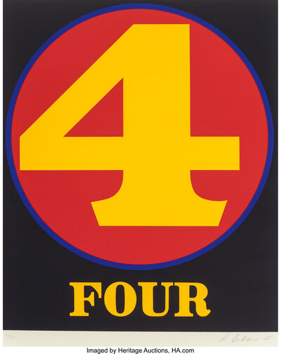 Robert Indiana, 'Four (from Numbers)', 1968