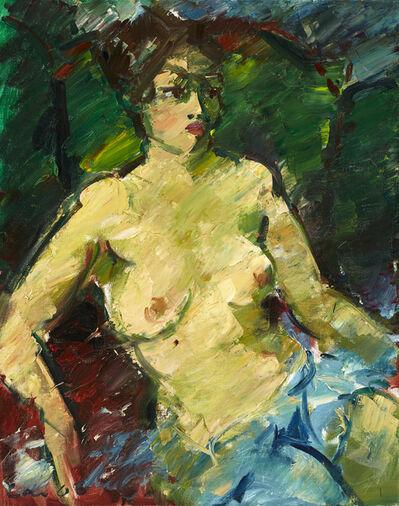 Viktor Lederer, 'Sitzender Akt mit Tuch (Sitting Nude with Cloth)', 2006