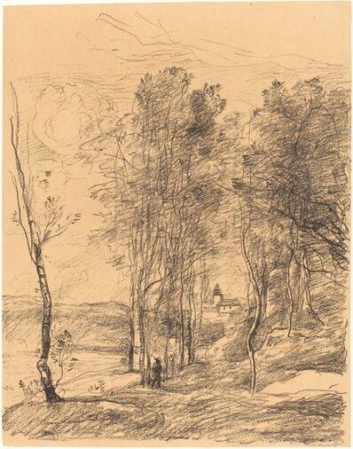 Jean-Baptiste-Camille Corot, 'The Bell Tower of St. Nicolas-Lez-Arras (Le Clocher de St. Nicolas-Lez-Arras)', 1871