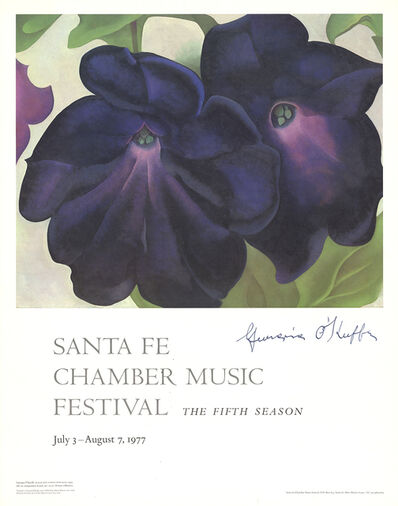 Georgia O'Keeffe, 'Black and Purple Petunias', 1977