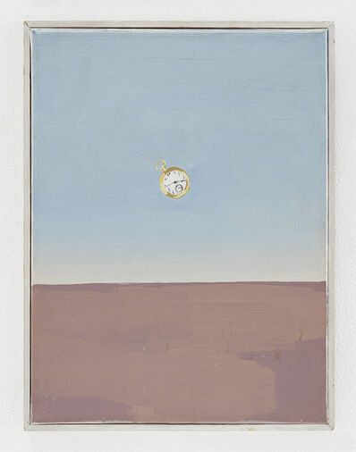 Luis Frangella, 'Clock #1 (Purple Field)', 1988