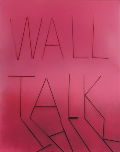 Scott Reeder, 'Untitled (Wall Talk) grey and pink', 2012