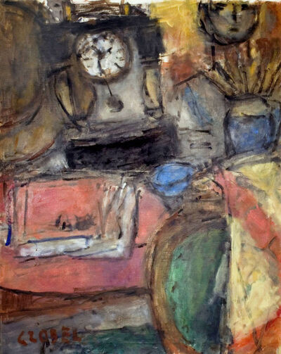 Béla Czóbel, 'Still Life with Clock', ca. 1961