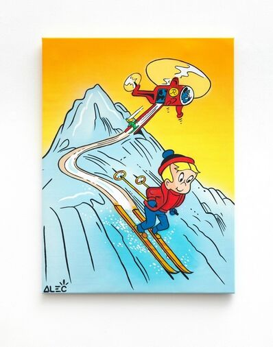 Alec Monopoly, 'Richie skiing with helicopter ', 2020