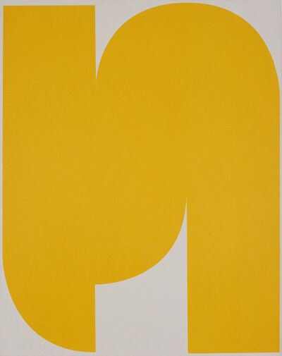 Johan Van Oeckel, 'Untitled (Yellow on Light Grey 1)', 2020