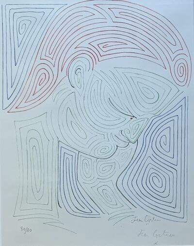 Jean Cocteau, 'Untitled (Face)', ca. 1960