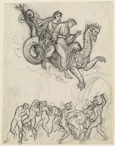 Joseph Anton Koch, 'Dante and Virgil Riding on the Back of Geryon', ca. 1821