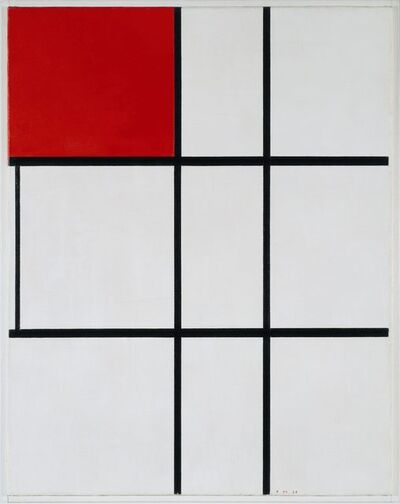Piet Mondrian, 'Composition B (No.II) with Red ', 1935