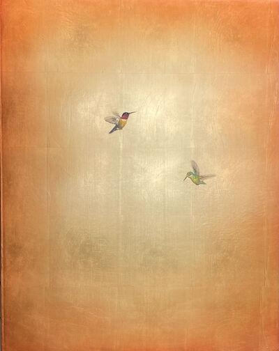 Carolyn Reynolds, 'Duo on Golden Landscape', 2021