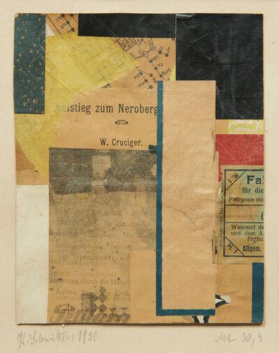 Kurt Schwitters, 'Mz 30,3', 1930