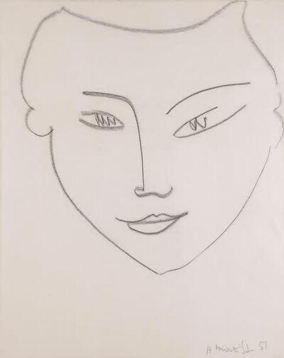 Henri Matisse, 'Visage de femme', 1951