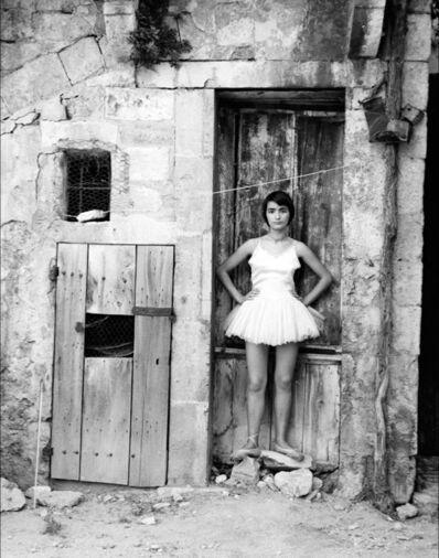 Lucien Clergue, 'Danseuse à la porte Arles', 1955