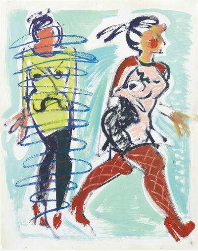 Ella Kruglyanskaya, 'Untitled (Study for Blue Scribble)', 2013
