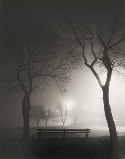 Alex Fradkin, 'Park Bench at Night'