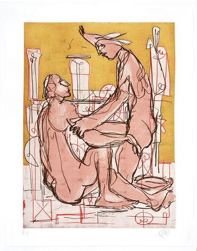 Markus Lüpertz, 'Liebendes Paar', 1989/1992