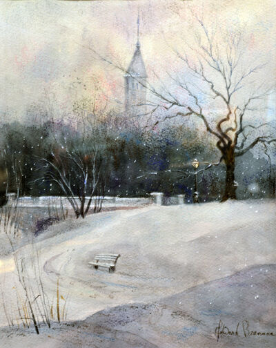 Ed Brennan, 'Central Park Flurries', 2019