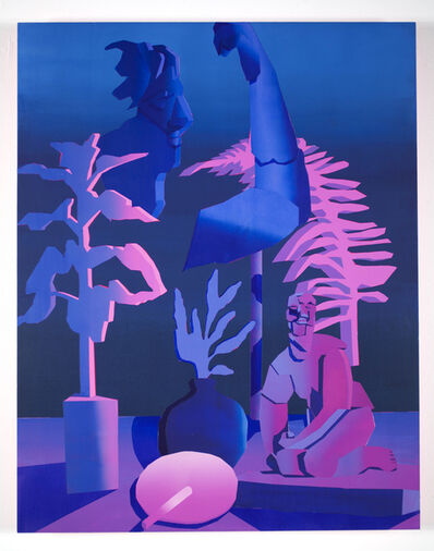Jonathan Chapline, 'Still Life with 2 Statues', 2016
