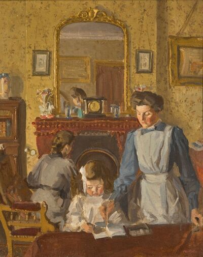 Harold Gilman, 'In the Nursery at Snargate Rectory', ca. 1908