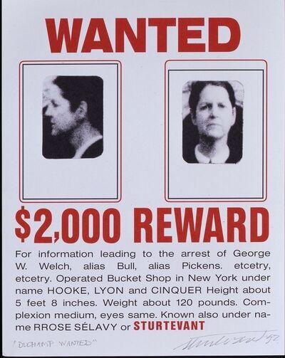 Sturtevant, 'Duchamp Wanted', 1992