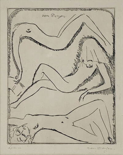 Kees van Dongen, 'Three Reclining Female Nudes', 1925