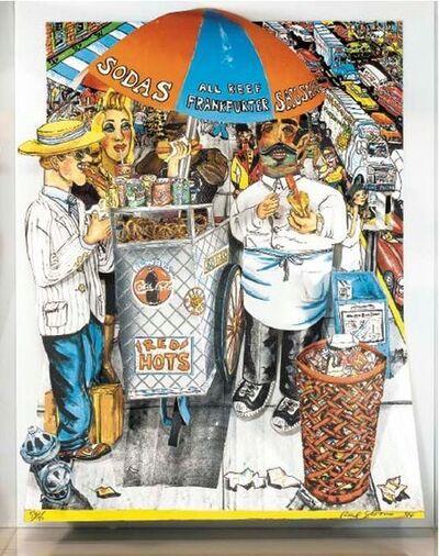 Red Grooms, 'Hot Dog Vendor', 1994