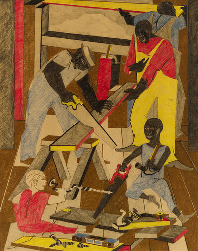 Jacob Lawrence, 'Workshop (Builders I)', 1972
