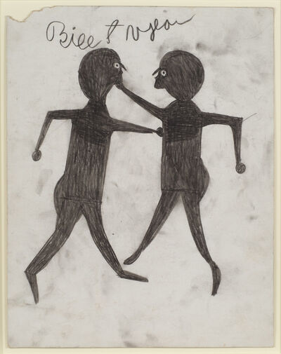 Bill Traylor, 'Untitled (Men boxing)', 1939-1942
