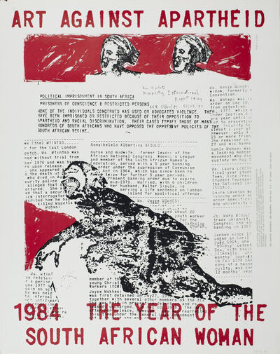 Nancy Spero, 'Art Against Apartheid', 1984