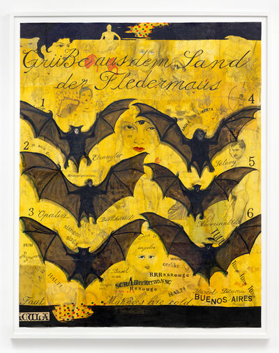 Marcel Dzama, 'Greetings from the land of the bat', 2016