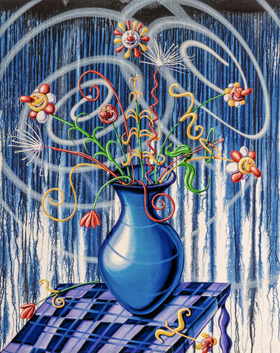 Kenny Scharf, 'Flores (blue)', 2020
