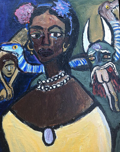 Cassi Namoda, 'Portrait of a Mulatto girl and an All-Eating Beast', 2018