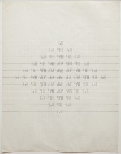 Brian O'Doherty, 'One to Six Rotated', 1967